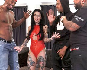 Tattoo artist getting gang banged by hung black guys