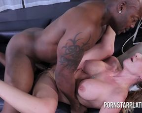 Big boobs mom is addicted to interracial fucking