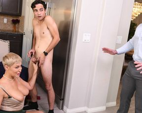 Mannish mommy getting fucked by a much younger dude